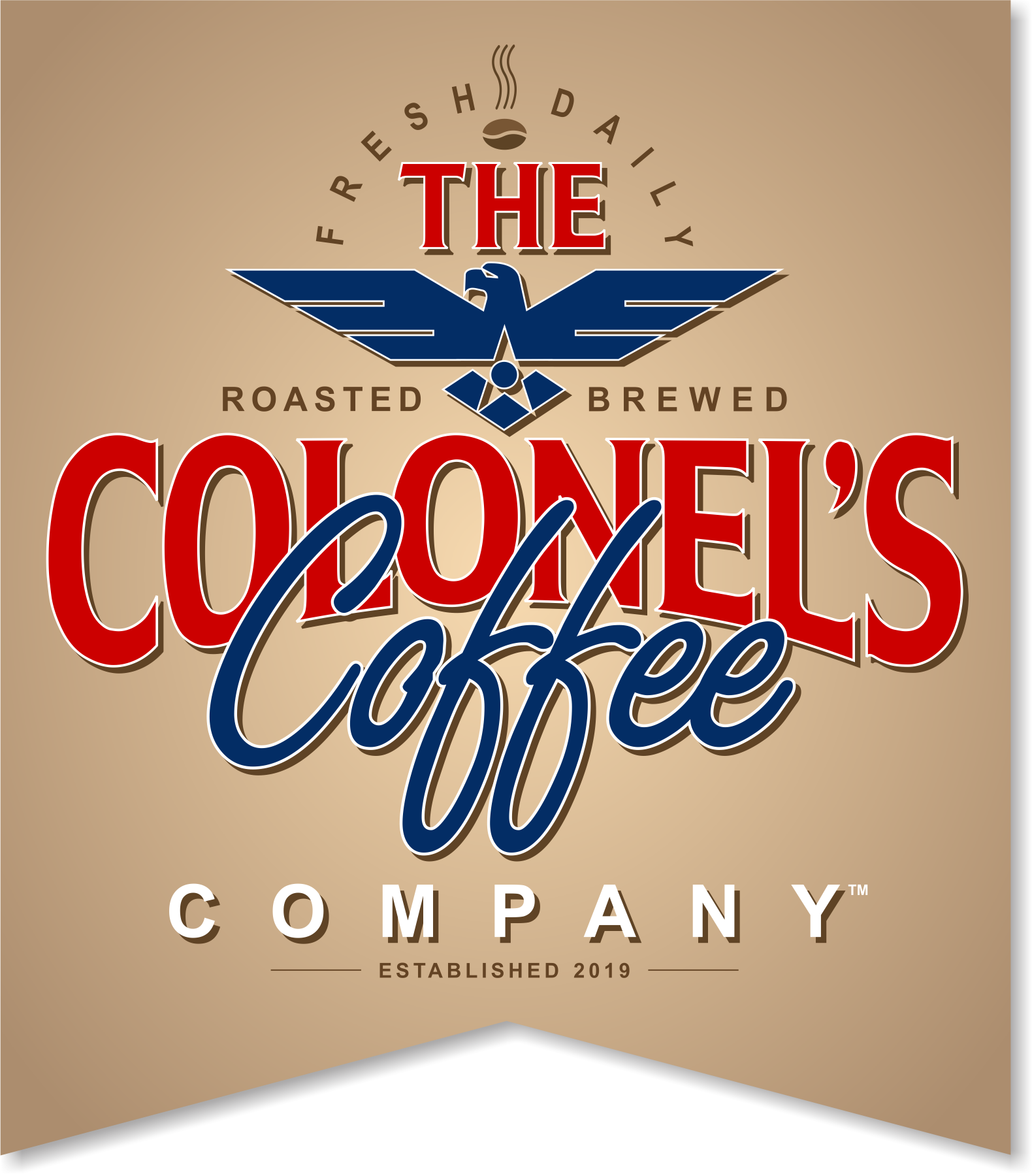The Colonel's Coffee Company logo banner